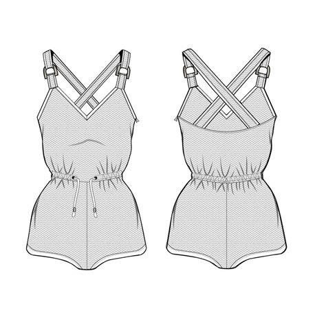 sketch templates s knit romper fashion flat template illustrator stuff