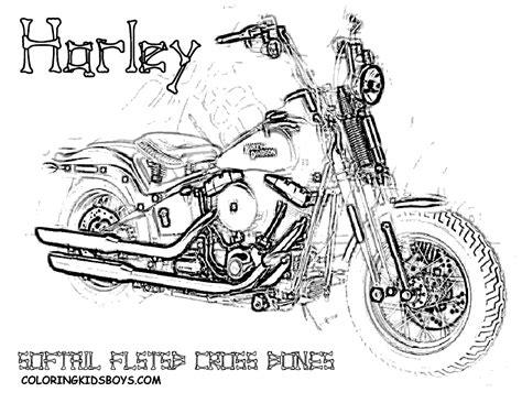 Kleurplaat Harley Davidson by Free Harley Davidson Motocycle Coloring Pages Harley