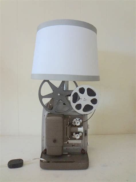 Repurposed Vintage Projector Lamp What A Great Idea For The Media Room For The Home