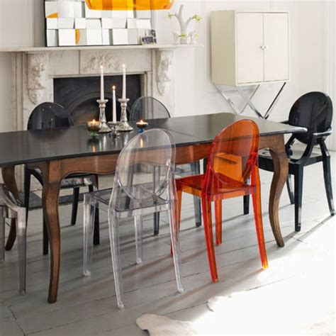 chaise ghost starck inspiration dining room chairs kartell