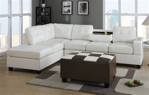 sectional with large ottoman large white leather sectional sofa with chaise and