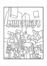 Minecraft Coloring Pages Scene sketch template