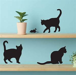cute cat wall stickers by lauren moriarty co With cat wall decals