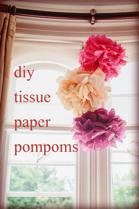 diy tissue paper pom poms wedding shower ideas tissue