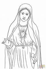 Coloring Mary Heart Immaculate Catholic Printable Crafts Lady Colorare Guadalupe Mother Maria Church Jesus Fatima Maryi Kolorowanka Kolorowanki Serce Niepokalane sketch template