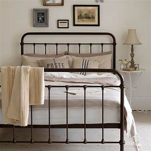 Neutral country bedroom with iron bed housetohome co uk