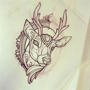 (10) Tumblr   tattoo sketches   Pinterest   Deer, Head ...