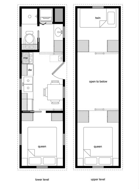 tiny house floor plans   level beds tiny house