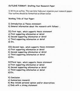 how to do term paper outline