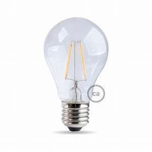 Ampoule Led Filament : ampoule filament led goutte 4w e27 claire ~ Teatrodelosmanantiales.com Idées de Décoration