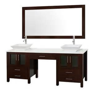 allandale 75 quot double bathroom vanity espresso free