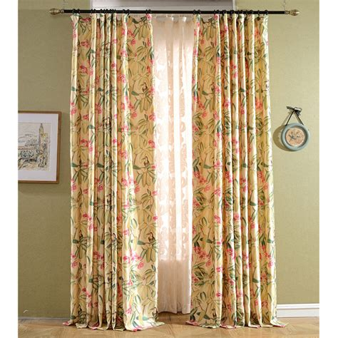 classic american country style printed window curtains