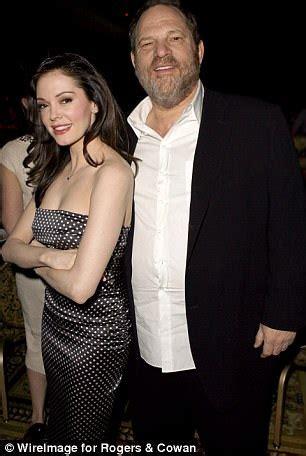 Rose McGowan with Weinstein