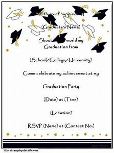 graduation party invitation templates free printable With senior announcement templates free