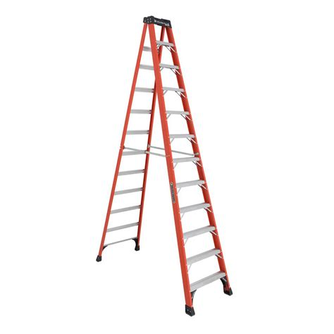 ladder review werner 12 ft fiberglass twin step ladder with 375 lb load capacity type iaa duty rating t7412