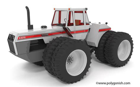white   tractor  model polygonish store