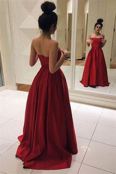 flowy maroon prom dresses satin prom dress