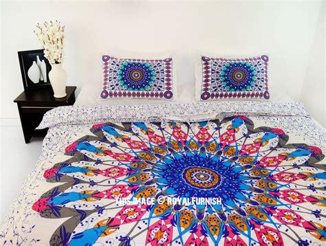 pink multi trippy ombre queen bohemian mandala bedding