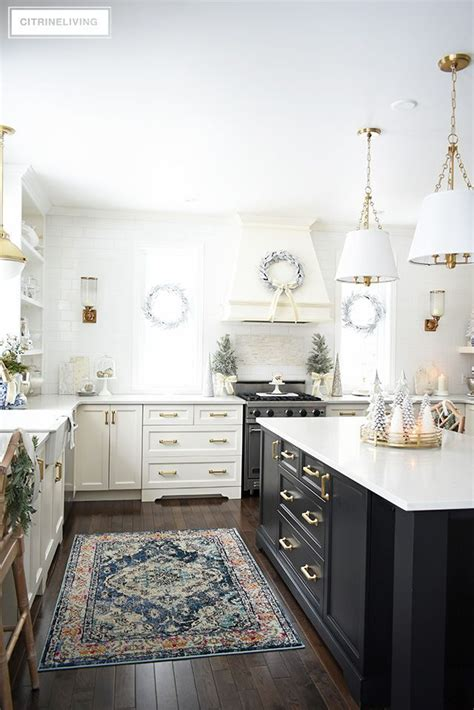 Amazing Kitchen Design With Touches Of Gold by Kitchen Decorating Silver Gold Greenery