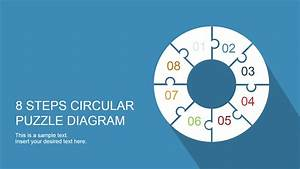 8 Step Circular Puzzle Diagram Template For Powerpoint