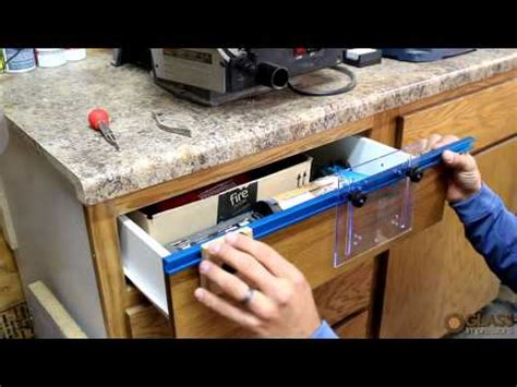 drawer pull template deluxe drawer pull jig it 174 rockler woodworking and hardware