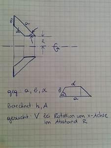 Rotationskörper Volumen Berechnen : rotationsk rper einer trapezfl che mathelounge ~ Themetempest.com Abrechnung