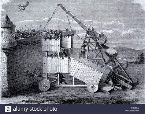 siege engines c13th sling machine trebuchet or siege engine