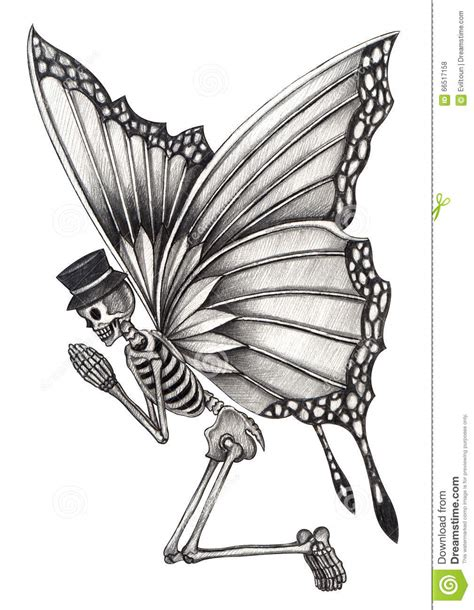 Art Skull Fairy Day The Dead Stock Illustration