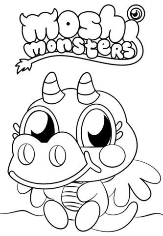 moshi monsters burnie coloring page  printable coloring pages