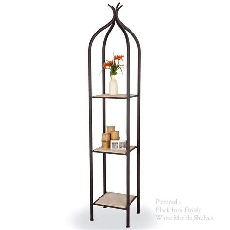 wrought iron etagere pictured is our contemporary style milan single iron