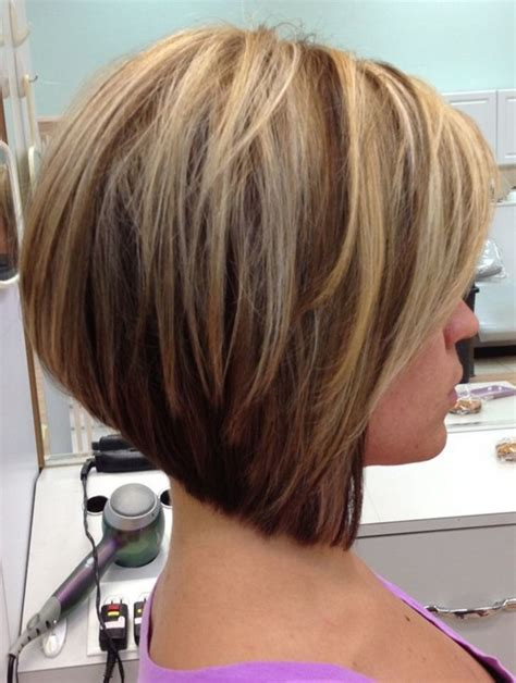 hairstyles short stacked bob hairstyles back view top