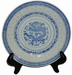 Amazon.com   Chinese Dragon Blue and White Rice Pattern ...