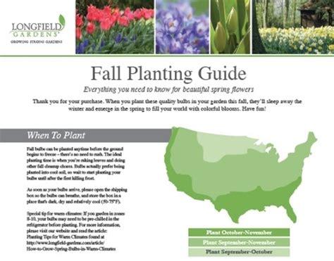 your fall bulb planting guide longfield gardens