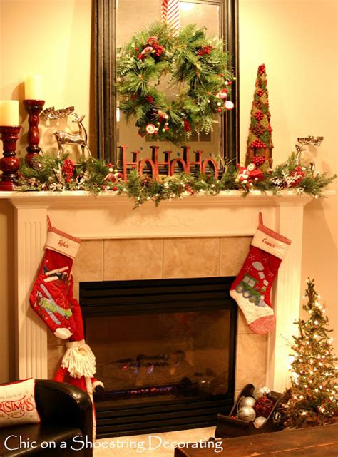 christmas mantel images chic on a shoestring decorating sprucin up my christmas