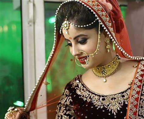 beautiful indian bridal makeup  dulhan