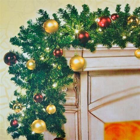 girlande weihnachten beleuchtet 2er set tannengirlande beleuchtet geschm 252 ckt lichter kugeln weihnachten girlande ebay