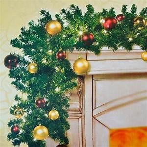 Girlande Weihnachten Beleuchtet : 2er set tannengirlande beleuchtet geschm ckt lichter kugeln weihnachten girlande ebay ~ Frokenaadalensverden.com Haus und Dekorationen
