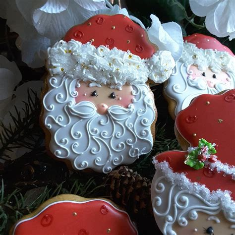 cute  claus christmas cookie  teri pringle wood