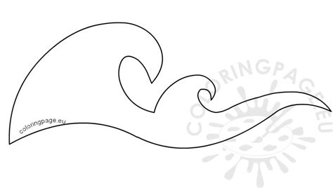 wave template waves border stencils printable coloring page