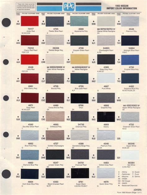 nissan altima color codes colorpaints co