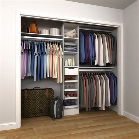 Closet Storage Units by Wood Closet Systems Wood Closet Organizers The Home Depot