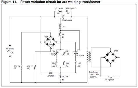 Arc Welding Transformer Power Controller Circuit