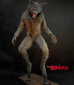Lifesize Howling Werewolf Statue - The Green Head