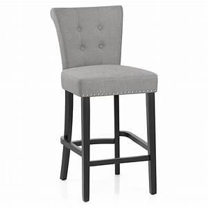 Chaise De Bar : chaise de bar en tissu buckingham monde du tabouret ~ Farleysfitness.com Idées de Décoration