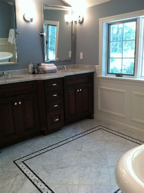 master bath classic in carrera marble