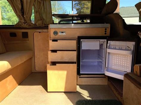 custom kitchen cabinets   weekender vanagon hacks