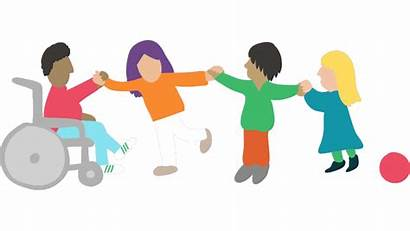 Disability Clipart Needs Special Inclusion Sports Children