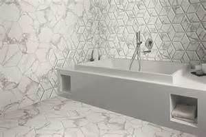 voronoi marble effect hexagon tiles walls and floors