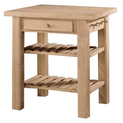 unfinished wood kitchen island international concepts 36 in w solid wood kitchen island