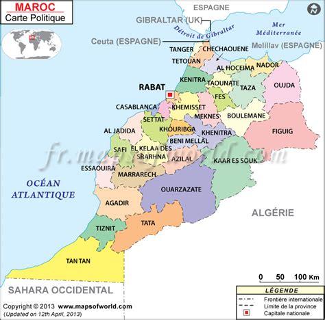 Carte Du Maroc Avec Les Principales Villes by Carte Du Maroc Ville
